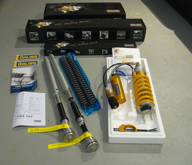 Triumph TIGER and XC Ohlins Full Adjustable Fork Cartridge Kits and Shocks